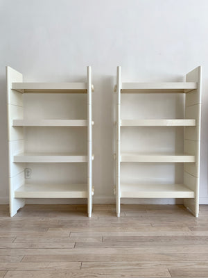 1970s White Plastic Treco Bookcase by Giovanni Maur