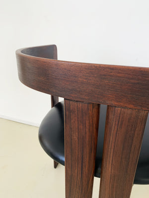 "1950s Italian Tobia Scarpa ""Pigreco"" Rosewood Arm Chair - Each"
