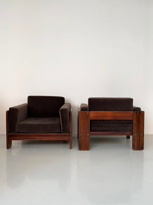 "1960s Rosewood Tobia Scarpa ""Bastiano"" Club Chair"