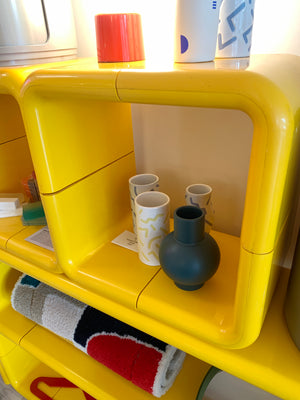 1970s Yellow Plastic Modular Umbo Unit Bookcase By Kay Leroy Ruggles