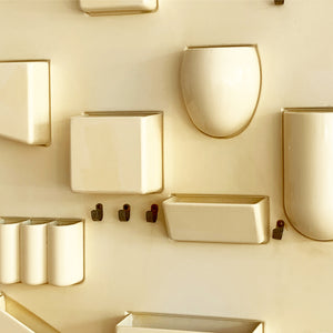 1970s Cream Plastic Uten.silo by Dorothee Maurer-Becker By Design M