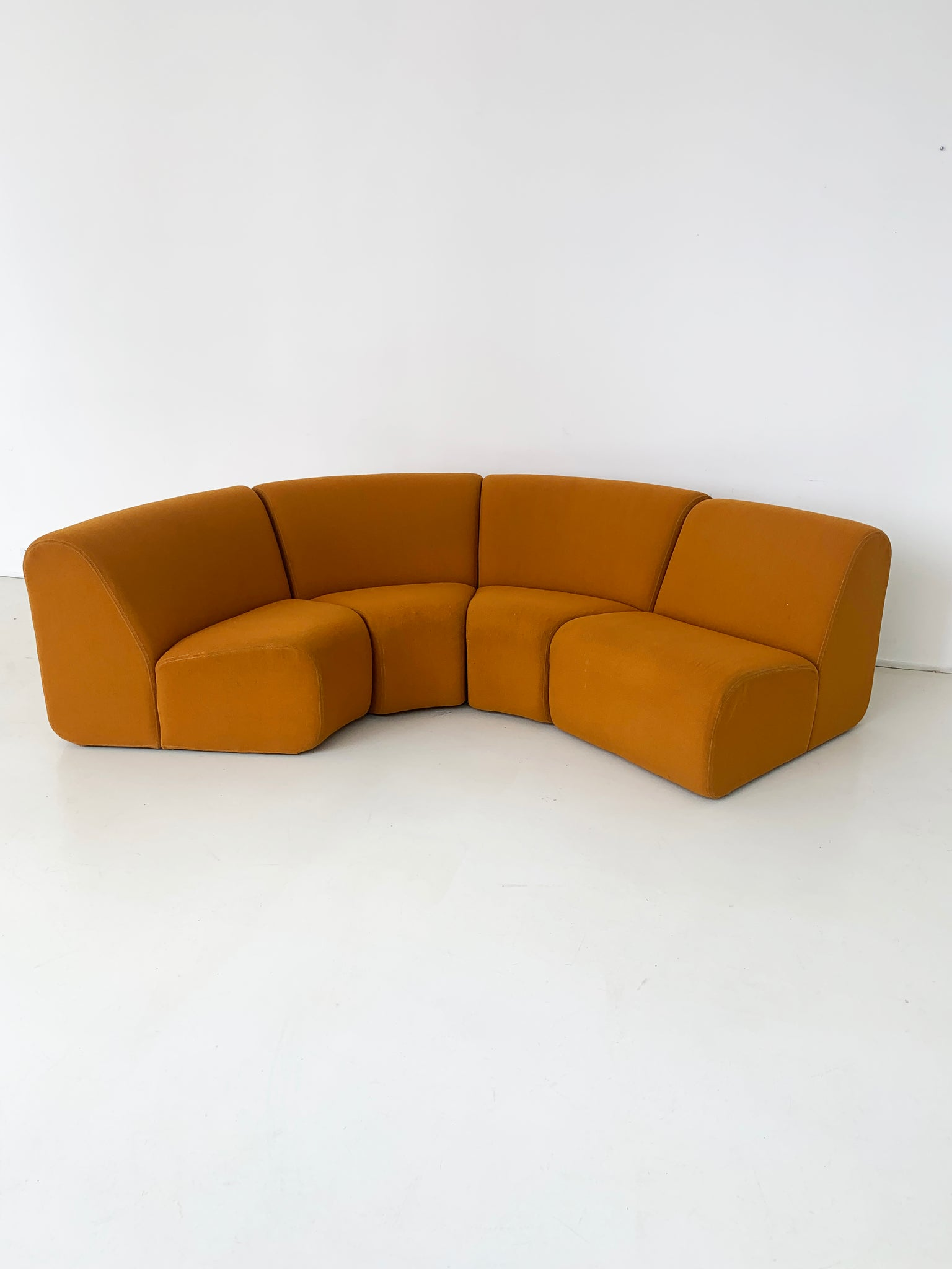 "1970s ""Tappo"" Mustard Modular Sofa by John Mascheroni for Vectra"