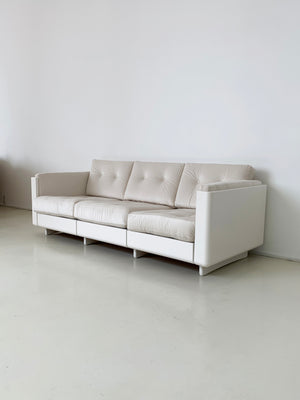 1970s Space-Age Cream Sofa by Magnus Olesen