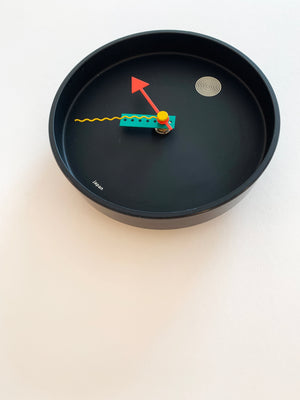 Memphis Wall Clock by Shohei Mihara for Wakita, Japan 1985