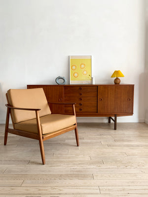 Yngve Ekstrom for Dux Walnut 1960s Credenza, Sweden