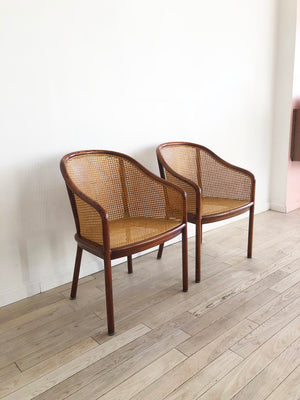 1970s Cane Chairs by Ward Bennett for Brickel Associates - Single