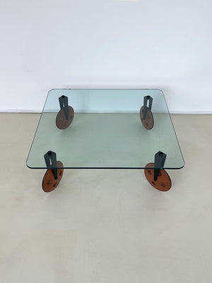 1970s Glass Coffee Table by Gae Aulenti for Fontana Arte