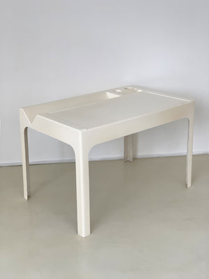 1967 White Fiberglass Ozoo Desk by Marc Berthier, France