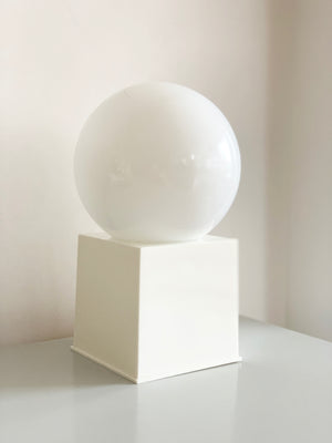 1970s White Orb Lamps