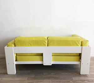 "1975 Tobia Scarpa for Knoll ""Bastiano"" Sofas in Yellow"