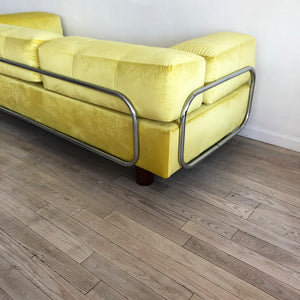 1960s Adrian Pearsall For Craft Yellow Sofa