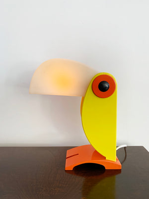 1968 Yellow Toucan Table Lamp by Old Timer Ferrari, Italy