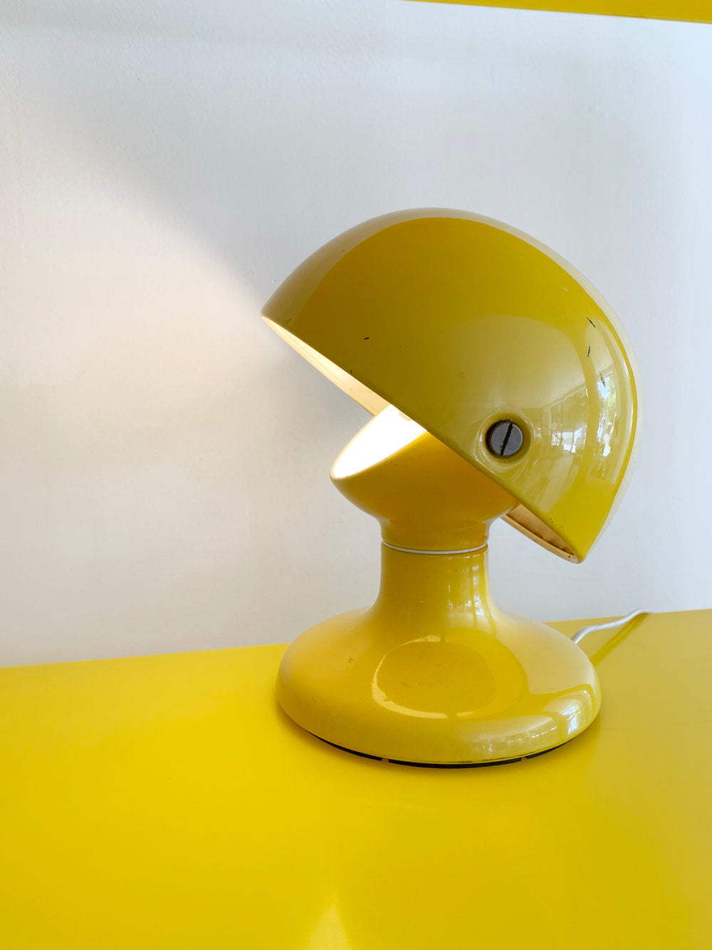 "Rare Yellow Flos 1963 ""Jucker"" Lamp by Tobia Scarpa"
