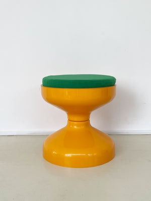 1960's Yellow Kartell Rochetto Stool
