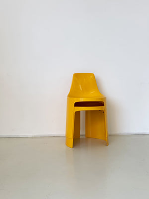 Yellow 1970s Umbo Stacking Chairs by Kay LeRoy Ruggles - Single