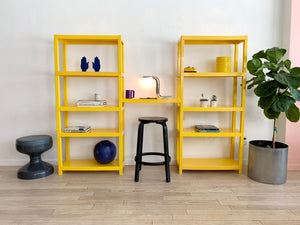 1970s Yellow Plastic Modular Unit / Bookcase