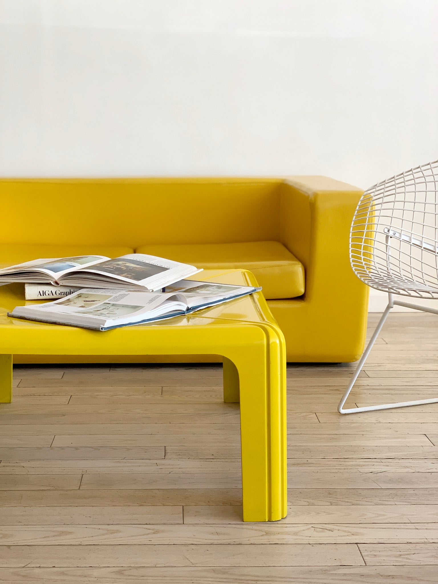 1974 Gae Aulenti For Kartell Yellow Coffee Table