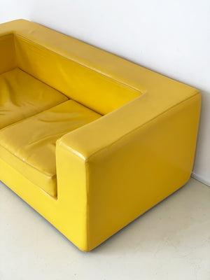 "1960s Yellow ""Throwaway"" Sofa by Zanotta"