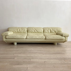 1980s Italian Cream Leather Sofas by Marco Zani