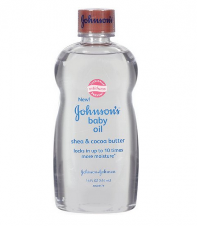 JOHNSON'S Baby Oil, Shea & Cocoa Butter 14 oz (1 Pack)