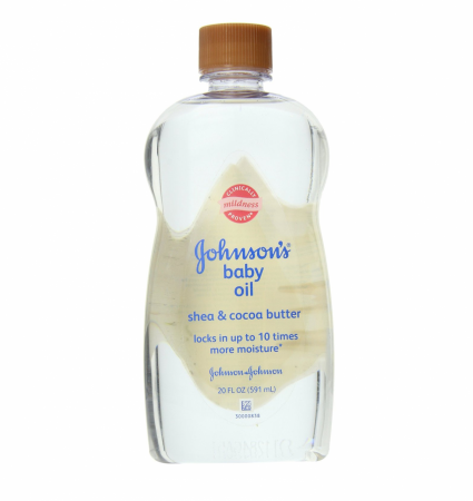 JOHNSON'S Baby Oil Shea & Cocoa Butter 20 oz (1 Pack)