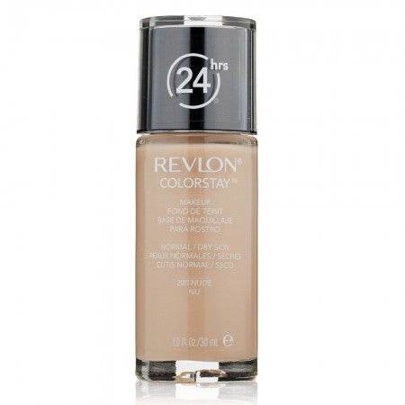 Revlon ColorStay for Normal/Dry Skin Makeup, Nude [200] 1 oz (1 Pack)