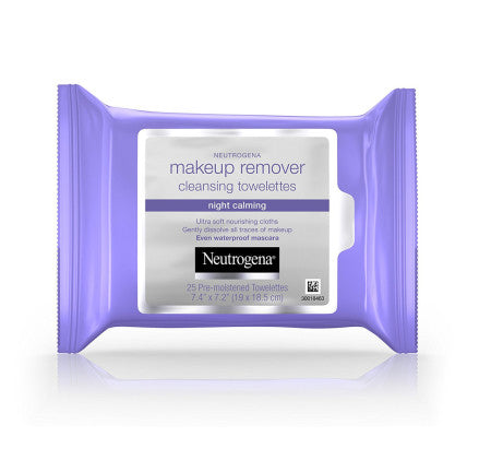 Neutrogena Makeup Remover Cleansing Towelettes Night Calming 25 ea (1 Pack)