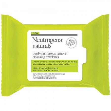 Neutrogena Naturals Purifying Makeup Remover Cleansing Towelettes 25 ea (1 Pack)