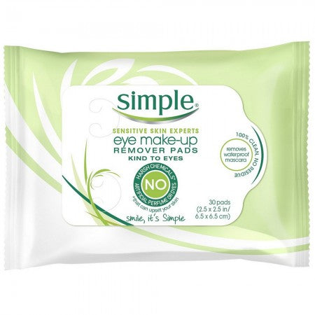 Simple Sensitive Skin Experts Eye Make-Up Remover Pads 30 ea (1 Pack)