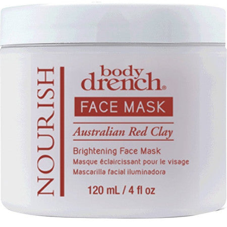 Body Drench Nourish Australian Red Clay Brightening Face Mask 4 oz (1 Pack)