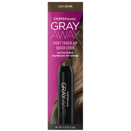 Everpro Grey Away Root Touchup Quick Stick Light Brown  0.10 oz (1 Pack)