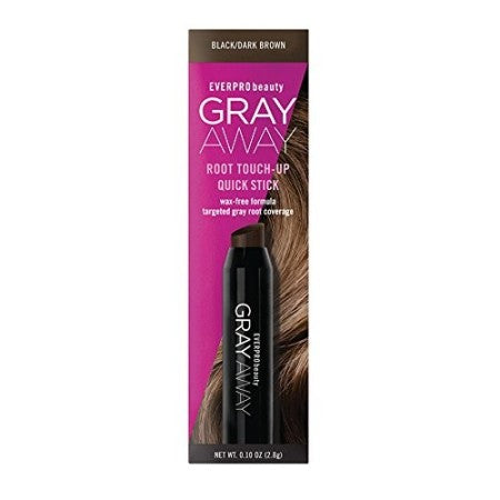 Everpro Gray Away Root Touchup Quick Stick Black/Dark Brown  0.10 oz (1 Pack)