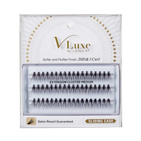 KISS, V Luxe Extension Cluster Medium Eyelashes  1 ea (1 Pack)