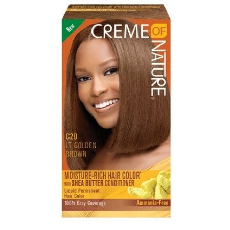Creme of Nature Liquid Hair Color, Golden Brown 7 oz (1 Pack)