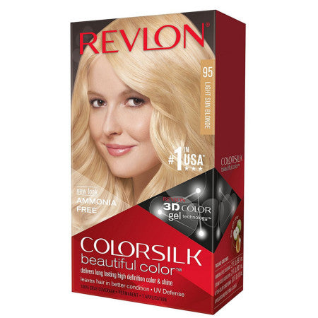 Revlon ColorSilk Beautiful Color Permanent Hair Color Light Sun Blonde 95 1 Each (1 Pack)