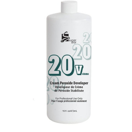 Superstar Cream Peroxide Developer with 20 Volumes 16 oz (1 Pack)