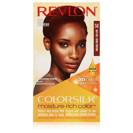 Revlon ColorSilk Moisture-Rich Hair Color, [56] Deep Red 1 Application (1 Pack)