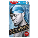 Kiss Red Power Wave Velvet Luxe Durag, Blue 1 ea (1 Pack)
