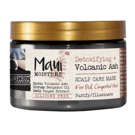 Maui Moisture Detoxifying + Volcanic Ash Scalp Care Mask For Dull And Congested Hair  12 oz (1 Pack)