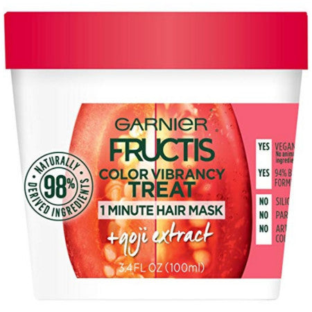 Garnier Fructis Color Vibrancy Treat Hair Mask + Goji Extract 3.4 oz (1 Pack)