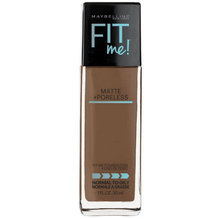 Maybelline Fit Me Matte + Poreless Liquid Foundation Makeup, Latte, 1 oz (1 Pack)