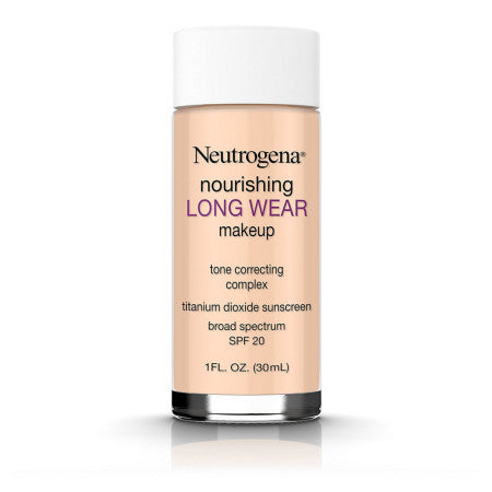 Neutrogena Nourishing Long Wear Liquid Makeup Foundation With Sunscreen, 40 Nude, 1 oz (1 Pack)