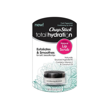 ChapStick Total Hydration Conditioning Lip Scrub, Fresh Peppermint, 0.27 oz  (1 Pack)