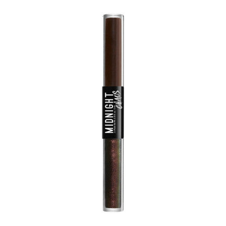 NYX Professional MakeUp Midnight Chaos Dual-ended Eyeliner, Brown/Moonlit Contrast, 0.2 oz (1 Pack)