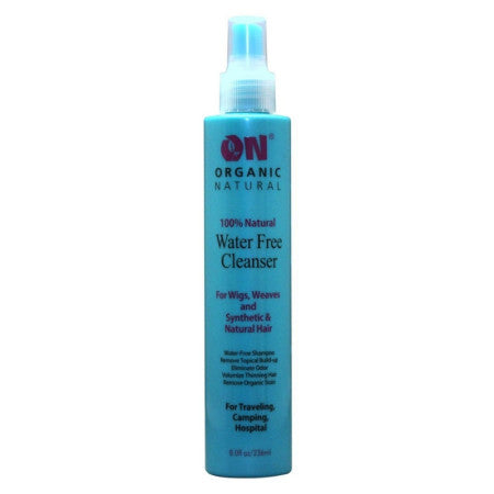 ON Organic Natural Water Free Cleanser for Wigs and Weaves - Synthetic & Natural Hair, 8 oz  (1 Pack)