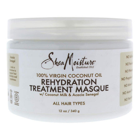 Shea Moisture 100% Virgin Coconut Oil Rehydration Treatment Masque for Unisex Masque, 12 oz (1 Pack)