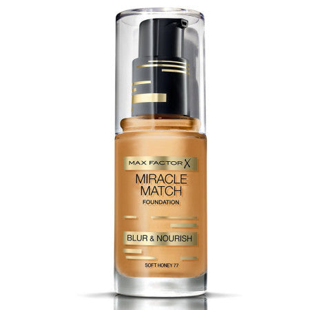 Max Factor Miracle Match Foudation, [77] Soft Honey, 1 oz (1 Pack)