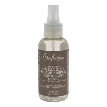 Shea Moisture Sacha Inchi Oil Omega 3, 6 , 9 Rescue + Repair Heat Protect Oil Serum, 4 oz (1 Pack)