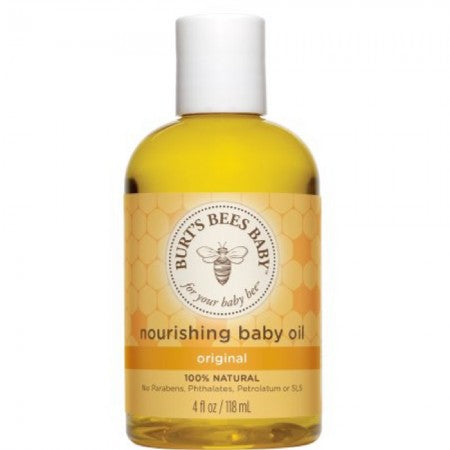 Burt's Bees Baby Bee Nourishing Baby Oil 4 oz (1 Pack)