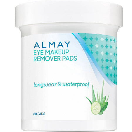 Almay Eye Makeup Remover Pads, Longwear & Waterproof 80 ea (1 Pack)